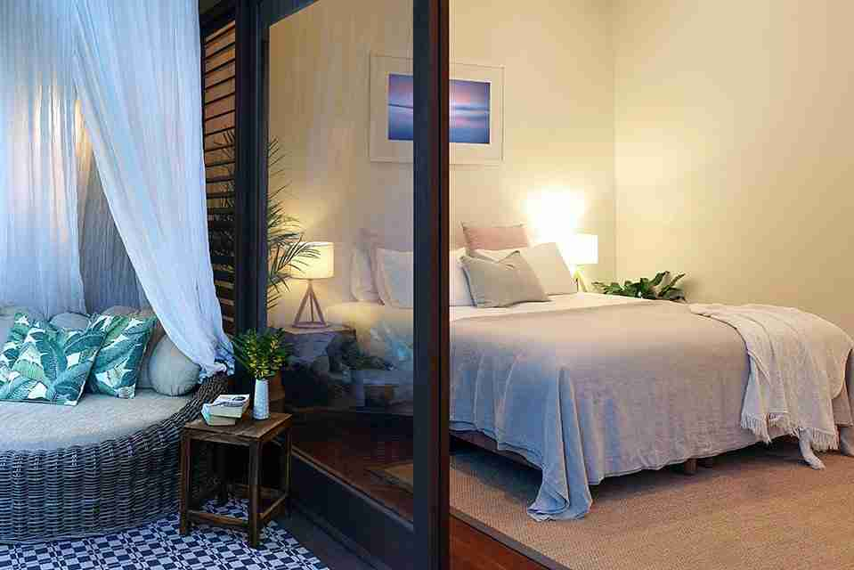 byron bay luxury accommodation for couples Byron Beach Retreats Ambient Bedroom