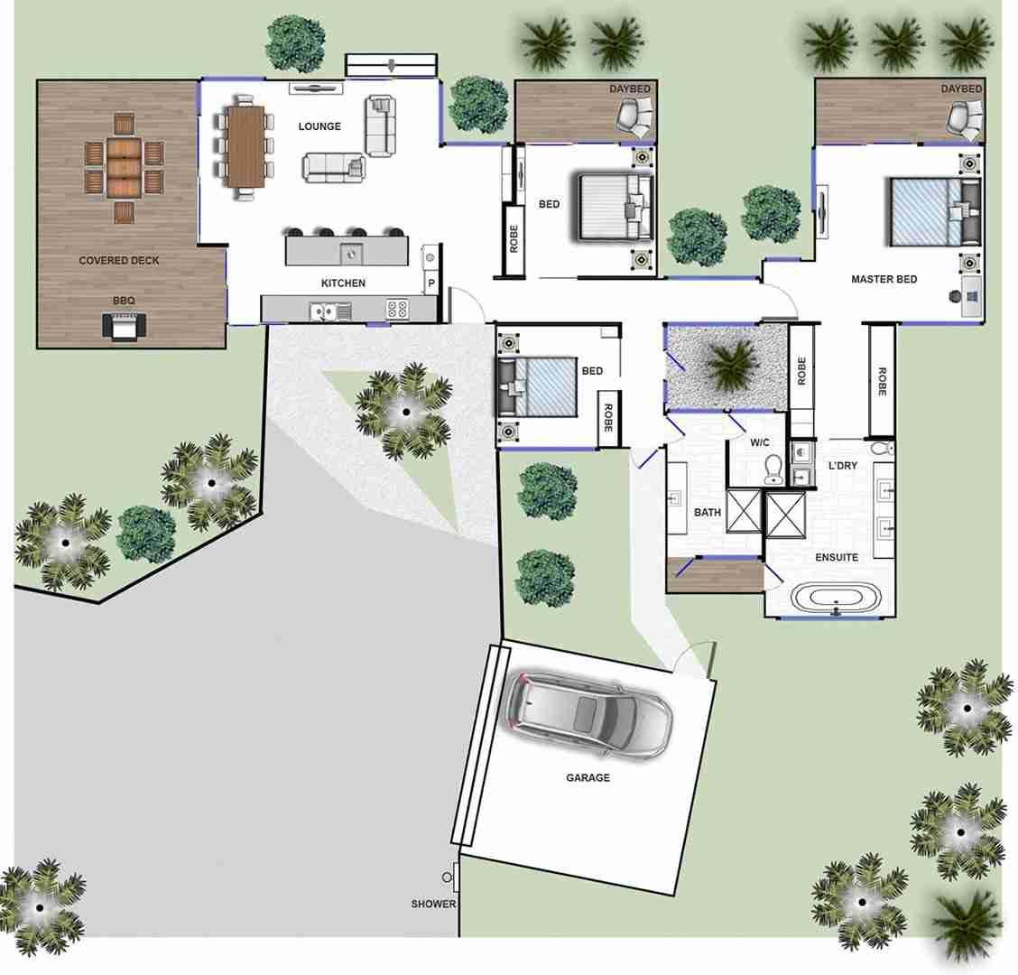 byron bay luxury accommodation beachfront Byron Beach Retreat Beach House Floor Plan
