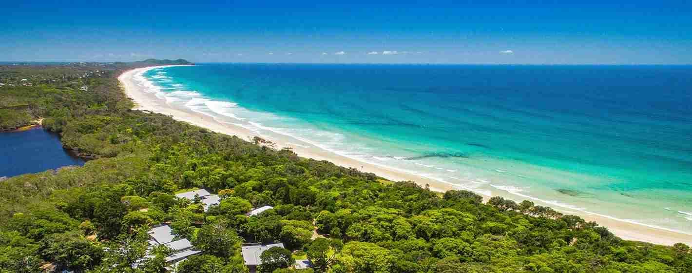 luxury byron bay beachfront accommodation Broken Head Beach at Byron Bay