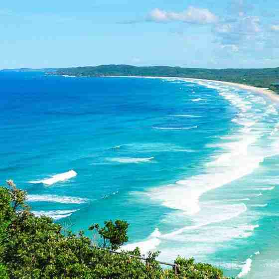 luxury holiday rentals byron bayByron Beach Retreat Headlands view