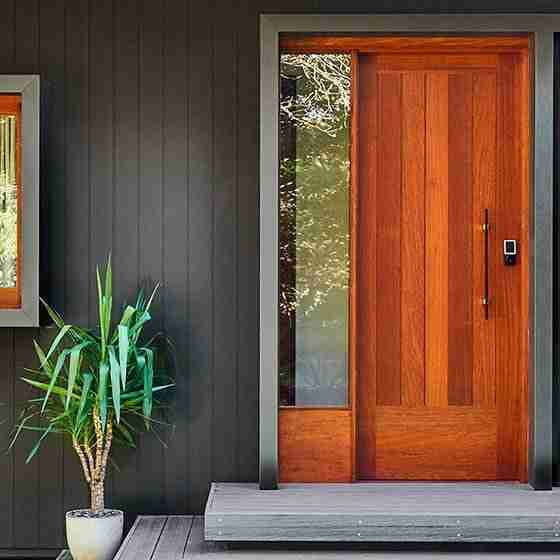 luxury homes byron bay Byron Beach Retreats Private Bungalow Front Door