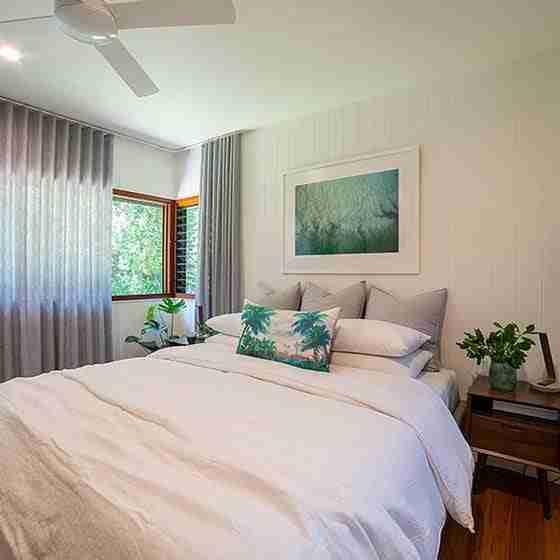 luxury accom byron baybyron bay romantic accommodation Byron Beach Retreats Private Bungalow Bedroom