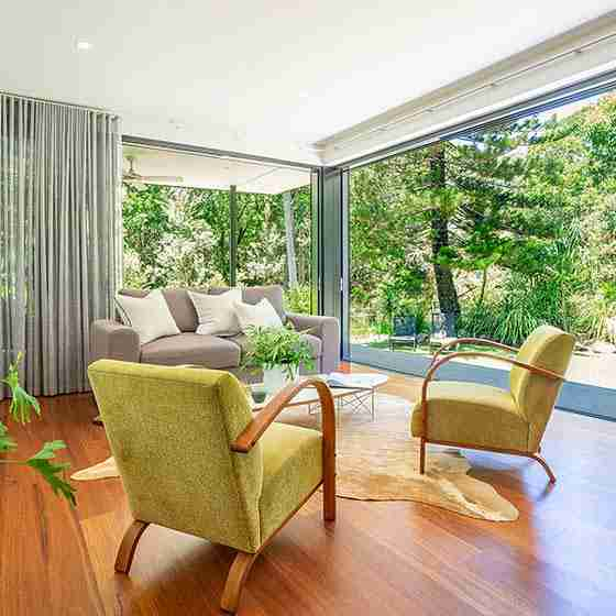 luxury escapes byron bayByron Beach Retreats Private Bungalow Lounge Living