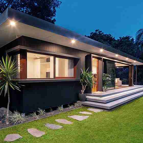luxury holiday homes byron bayByron Beach Retreats Private Bungalow Stepping Stone Lawn Entry